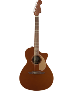 Fender Newporter Player Acoustic/Electric Guitar Rustic Copper TGF33