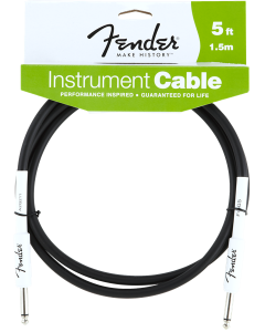 Fender Performance Series Instrument Cable Black 5 Ft