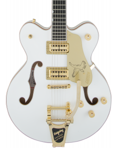 Gretsch G6636T Players Edition Falcon Center Block Double-Cut Electric Guitar with String-Thru Bigsby. Filter'Tron Pickups, White
