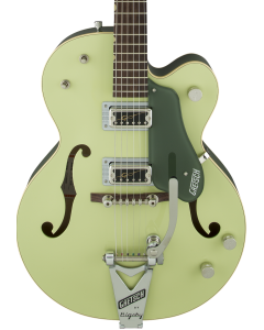 Gretsch G6118T-60 Vintage Select Edition '60 Anniversary Hollow Body Electric Guitar with Bigsby. TV Jones, 2-Tone Smoke Green