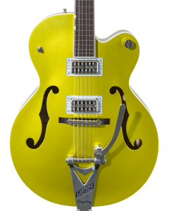 Gretsch G6120T-HR Brian Setzer Signature Hot Rod Hollow Body Electric Guitar with Bigsby. Rosewood FB, Lime Gold