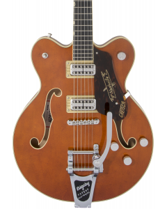 Gretsch G6620T Players Edition Nashville Center Block Double-Cut Electric Guitar with String-Thru Bigsby. Filter Tron Pickups, Round-Up Orange