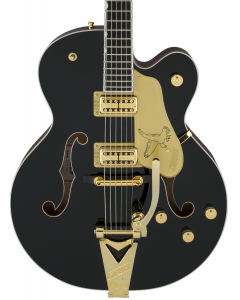 Gretsch G6136T-BLK Players Edition Falcon Electric Guitar with String-Thru Bigsby. Filter'Tron Pickups, Black