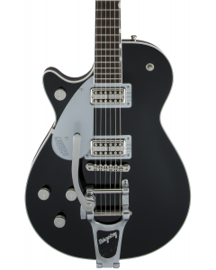 Gretsch G6128TLH Players Edition Jet FT Left Handed Electric Guitar with Bigsby. Rosewood FB, Black