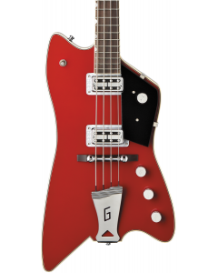"Gretsch G6199 Billy Bo Bass, 30.3"" Scale, ""G"" Cutout Tailpiece. TV Jones, Rosewood FB, Firebird Red"
