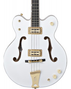 "Gretsch G6136LSB White Falcon Bass. 34"" Scale, Ebony FB, White"
