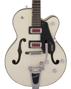 "Gretsch G5410T Electromatic ""Rat Rod"" Hollow Body Single-Cut Electric Guitar with Bigsby. Rosewood FB, Matte Vintage White"