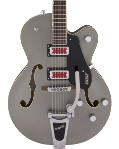 "Gretsch G5410T Electromatic ""Rat Rod"" Hollow Body Single-Cut Electric Guitar with Bigsby. Rosewood FB, Matte Phantom Metallic"