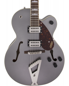 Gretsch G2420 Streamliner Hollow Body Guitar with Chromatic II. Broad'Tron BT-2S Pickups, Laurel FB, Phantom Metallic