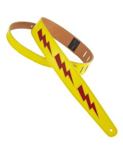 "Henry Heller 2"" Bolt Series Leather Strap Yellow/Red"