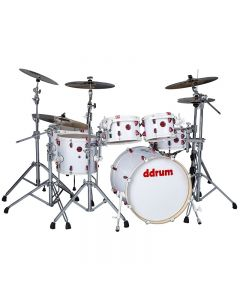 ddrum Hybrid 6 Player 6pc Shell Pack. White