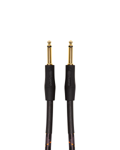 "Roland Gold Series RIC-G10 1/4"" Straight/Straight Instrument Cable 10 ft. Black"