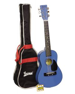 Lauren LAPKMBL 30in Acoustic Guitar Package. Blue