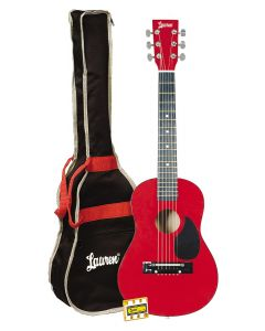 Lauren LAPKMRD 30in Acoustic Guitar Package. Red