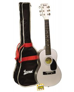 Lauren LAPKMSL 30in Acoustic Guitar Package. Silver