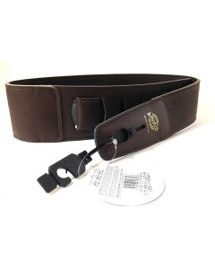 "Lock-it 2.75"" Leather Guitar Strap with Built In Strap Lock - BROWN"