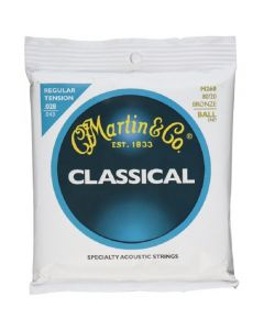 Martin M260 Classical Normal Tension 80-20 Bronze Ball End Strings