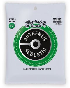 Martin MA540S Marquis Phosphor Bronze Light Silked Acoustic Guitar Strings
