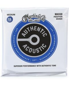Martin MA550 SP Phosphor Bronze Medium Authentic Acoustic Guitar Strings 13-56