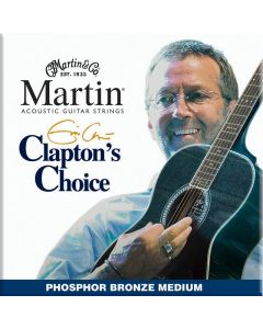 Martin MEC13 Clapton's Choice Phosphor Bronze Acoustic Guitar Strings Medium 13-56
