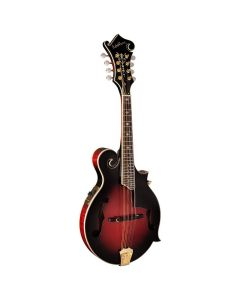 Washburn M3SWETWRK-D Americana Series Solid F-Style Mandolin. Transparent Wine Red