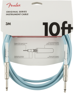 Fender Original Series Instrument Cable, Straight, 10' - Daphne Blue