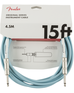 Fender Original Series Straight To Straight Instrument Cable 15 Ft. Daphne Blue