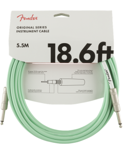 Fender Original Series Straight To Straight Instrument Cable 18.6 Ft. Surf Green
