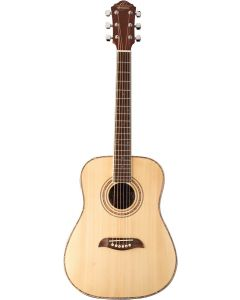 Oscar Schmidt OGHSLH Left Handed 1/2 Size Acoustic Guitar. Natural