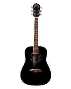 Oscar Schmidt OGHSB 1/2 Size Dreadnought Acoustic Guitar. Black