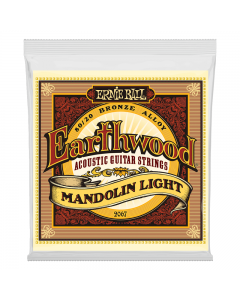 Ernie Ball 2067 Earthwood Light 80/20 Bronze Loop End Mandolin Strings, .09-.034