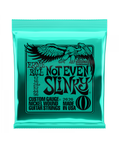 Ernie Ball 2626 Not Even Slinky Nickel Wound Electric Guitar Strings, .012 - .056