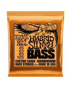 Ernie Ball 2833 Hybrid Slinky Nickel Wound Bass Strings, .045 - .105