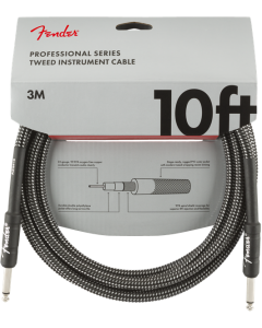 Fender Professional Series Straight To Straight Instrument Cable 10 Ft. Gray Tweed