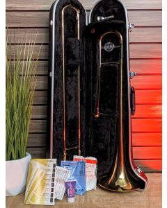 Yamaha YSL354 Student Trombone with Case and Mouthpiece SN3857
