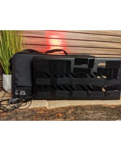 Gator  GPB-BAK-1 Large Aluminum Pedalboard w/ Carry Bag and Boss PSA120 Power supply and 8 pedal Daisy Chain. SN0414