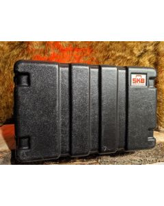 SKB  6U- 6 Space Molded Rack Case with Gemini PL-90  Power Supply and Light Module.  SN0430
