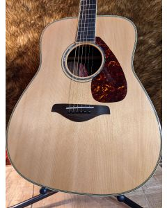 Yamaha FG730S Folk Acoustic Guitar Tobacco Natural w/ Gig Bag SN0105