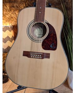 Epiphone DR-212 12-String Acoustic Electric Guitar Natural SN1271