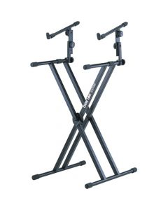 QuikLok QL642 2 Tier Double Braced X Style Keyboard Stand