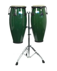 Rhythm Tech RT5505 Eclipse Conga Set with Stand. Green Finish