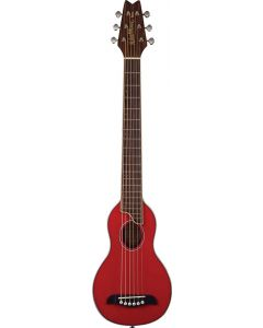 Washburn RO10STRK Rover Acoustic Guitar W/ Gig Bag Trans Red