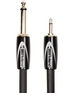 "Roland RCC-10-3514 Black Series 10ft / 3m Interconnect Cable 3.5mm Mono To 1/4"" Mono"