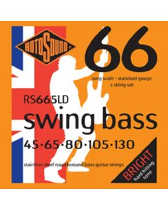 Rotosound RS665LC Swing Bass 66 Stainless Steel 5 String Bass Guitar Strings