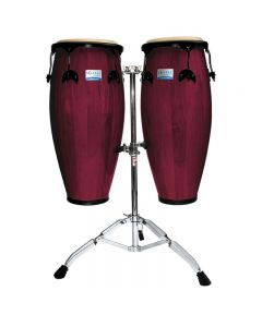 Rhythm Tech RT5503 Eclipse Conga Set with Stand Wine Red