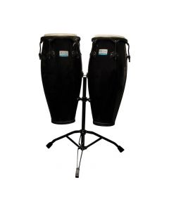 Rhythm Tech RT5501 Eclipse Conga Drum Set with Stand, Black