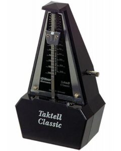 Wittner 829161 Taktell Classic Series. Plastic Casing Black and Silver No Bell