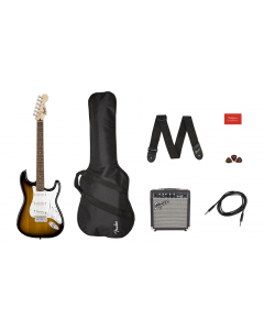 Squier Electric Guitar Strat SS Pack Brown Sunburst