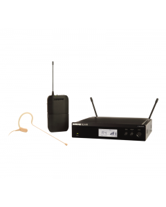 Shure BLX14R/MX53-H9 Wireless Rack-mount Presenter System With MX153 Earset Microphone.
