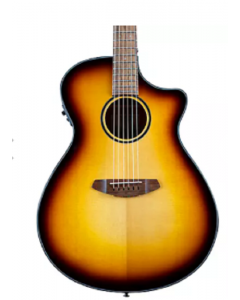 Breedlove Discovery S CE Sitka-African Mahogany Concerto Acoustic-Electric Guitar Edge Burst